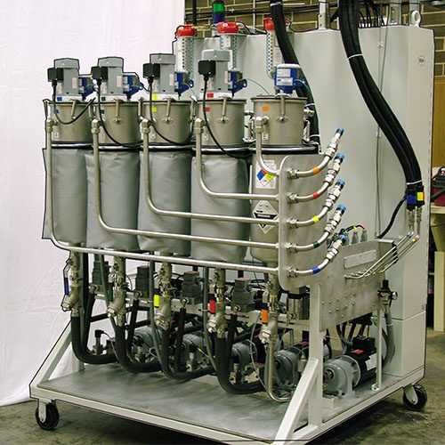 MM5P - 5 Part Meter Mix System for Continuous Flow Mixing of 5 Components
