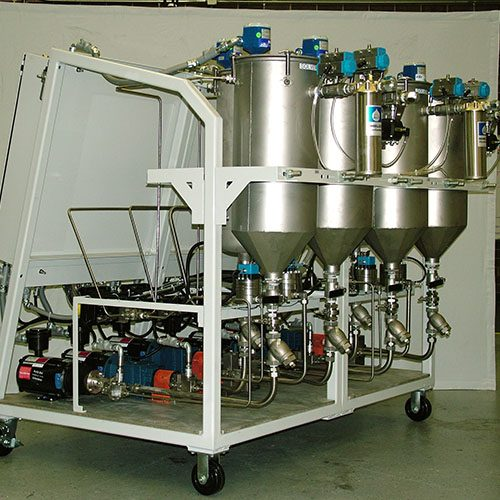 MM6P - 6 Part Meter Mix System for Continuous Flow Mixing of 6 Components